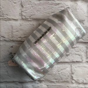 Victoria's Secret Striped Cosmetic Case